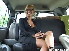 Hot Bang Bus Fuck With The Busty Blonde Rene porn tube video
