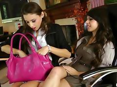 Horny Lesbians Celeste Star and Layla Rose Get it Hard