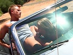 Nicole Aniston fucked on the hood of a car tube porn video
