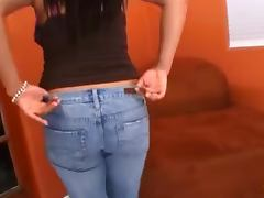 Busty Latina girl enjoys sucking a big erection