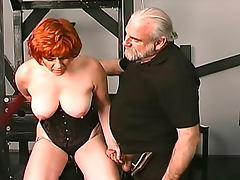 Redhead milf fucked in dungeon