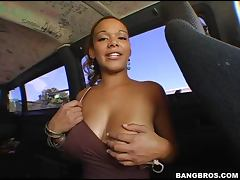 Car, Ass, Banging, Big Tits, Blonde, Blowjob