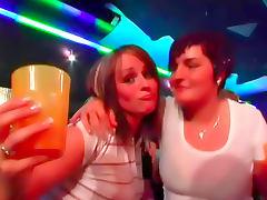 Hot girls like men at club