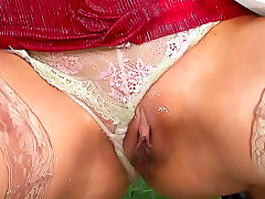 Cum glazes tits after outdoor