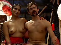 Asian Dominatrix gets her Whip