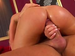 Round Ass Blonde Caty Campbell Deepthroats For Cum After Anal