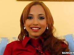 Latin girl fucks and smiles and it looks funny and tempting porn tube video