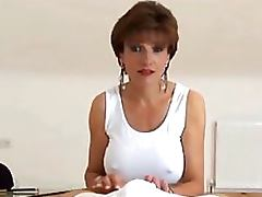 Mother, Brunette, Cougar, Jerking, Masturbation, Mother