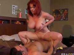 Busty milf redhead hardcore fucking
