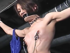 Sexy corset on submissive bondage girl