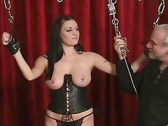She loves the pain for her nipples porn tube video