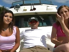 Anal girls have group sex on a boat porn tube video