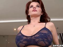 Redhead Milf Joslyn James Showing Her Rack While Blowing tube porn video