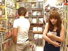 Kinky Asian Babe Sucks Cock and Then Gets Fucked and Facialized in a Sex Shop