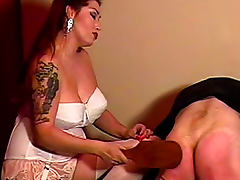Satin blouse mistress paddles tube porn video