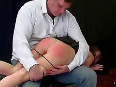 Teen ass for over the knee spanking