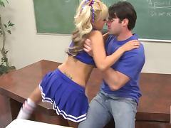 Fucking Blonde Cheerleader Briana Blair in Classroom tube porn video