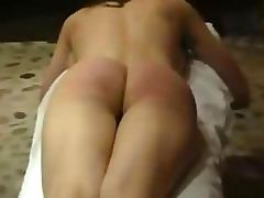 Submissive Bound Brunette Gets Her Perfectly Round Ass Spanked Hard