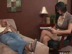 Seductive Therapist Cure Her Patient By Titty Fucking