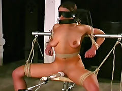 Blindfolded, BBW, BDSM, Blindfolded, Bondage, Brunette