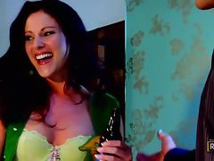 Foxy Brunette Samantha Ryan Is Hammered Hard
