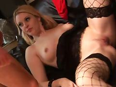 British slut Shay fucked in fishnet stockings