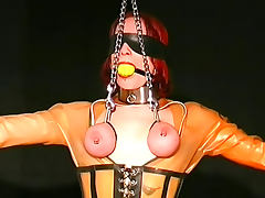 Collars and latex in BDSM porn tube video