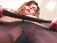 So hot in full body animal print catsuit tube porn video