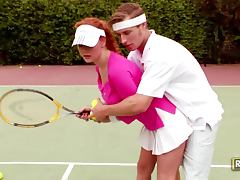 Tennis Practice Sex With The Hot Redhead Audrey Hollander