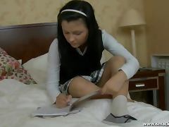 Schoolgirl Isabel loves having sex after classes