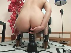 Lovely Brunette Jennie Gets Fucked By a Huge Dick