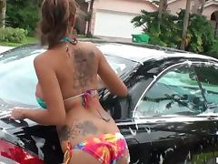Hot Brunette Jamie Valentine Gets Fucked By a Big Dick after Car Wash