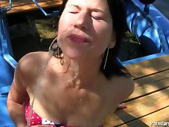 Girlfriend, Brunette, Girlfriend, Masturbation, Outdoor, Panties