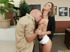 Brunette MILF Kayla Paige Fucking The Repair Guy In Her Office