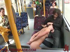 Bus, BDSM, Blowjob, Brunette, Bus, Sex