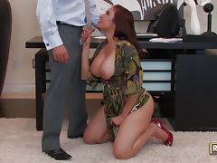 Boss, Ass, Big Tits, Boss, Facial, Office