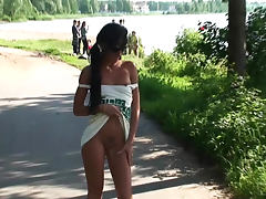 Public path is good place for flashing tube porn video