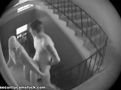 Staircase Banging With Hot Teen And Her Horny Boyfriend