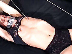 Nipple torture of tied up girl