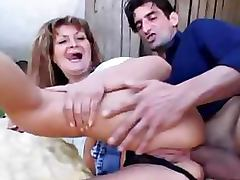 Lascivious Granny Gets Fucked and Receives an Anal Creampie Outdoors tube porn video