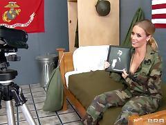 Army, Army, Babe, Blonde, Creampie, Reality