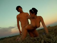 Hot Teen Couple Banging In The Open