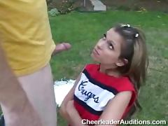 Cheerleader, Bed, Cheerleader, Cumshot, Hardcore, Lick