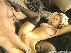 Sensual Blonde with Big Round Boobs Having Sex in Her Sexy Lingerie porn tube video