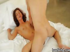 Small tits babe Maryjane Johnson in lustful morning sex