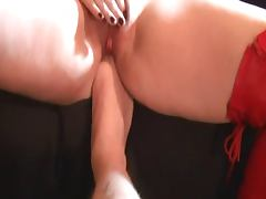 Pumped Pussy Hitachi Wand Orgasm with Foot in Ass