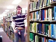 Guy Stroking In University Library tube porn video