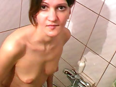 Bathroom, Bath, Bathroom, Boobs, Brunette, Natural