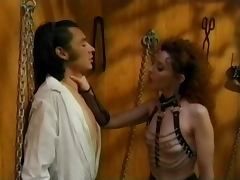 Vintage Femdom Olivia Outre with Male Slave porn tube video