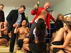 Elegant party with champagne becomes orgy tube porn video